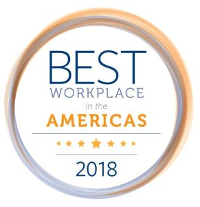 PIA 2018 Best Workplace in the Americas Award