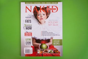 Gold Award Division III and Best of Category-Environmentally Sound Materials  Naked Food Magazine, Fall 2016