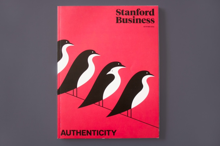 Award of Excellence-Sustainable Printing  Stanford Business Magazine