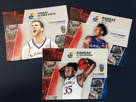 KU Athletics Men's Basketball Fan Card – Digital Printing, Brochures